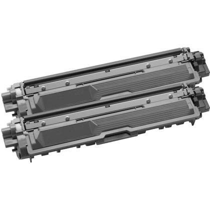 Compatible Brother TN-221 cartouche de toner noire - boite economique - 2/paquet