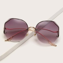 Randlose Sonnenbrille mit getonten Linsen