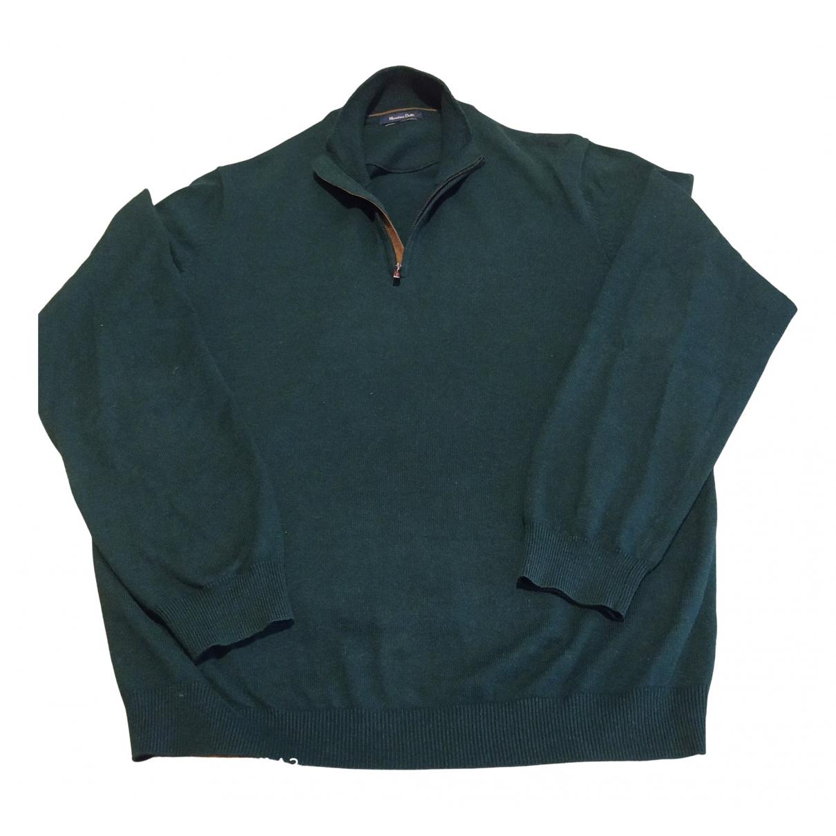 Massimo Dutti \N Pullover.Westen.Sweatshirts  in  Gruen Baumwolle
