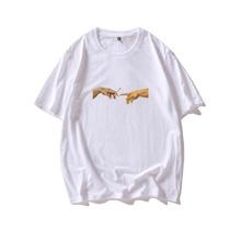 T-Shirt mit Haenden und Zigarette Muster
