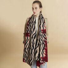 Schal mit Zebra Streifen