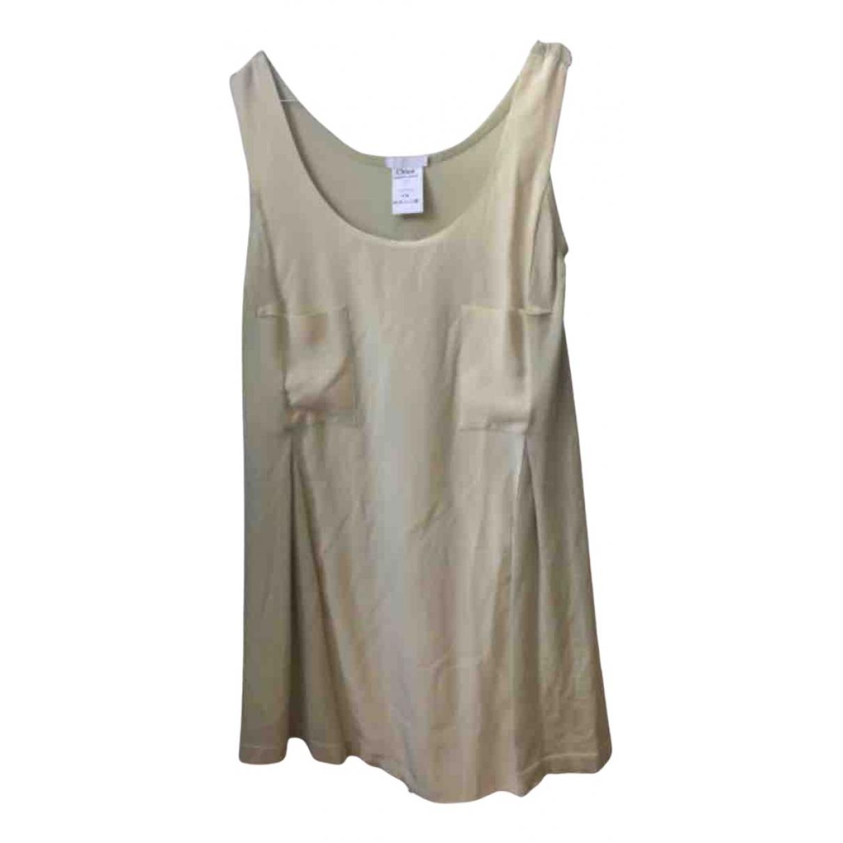 Chloe \N Kleid in  Gelb Kaschmir