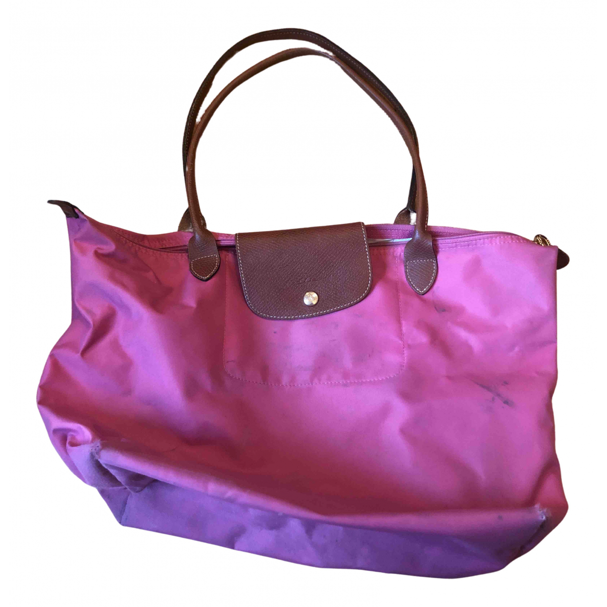 Longchamp - Sac a main Pliage  pour femme - rose