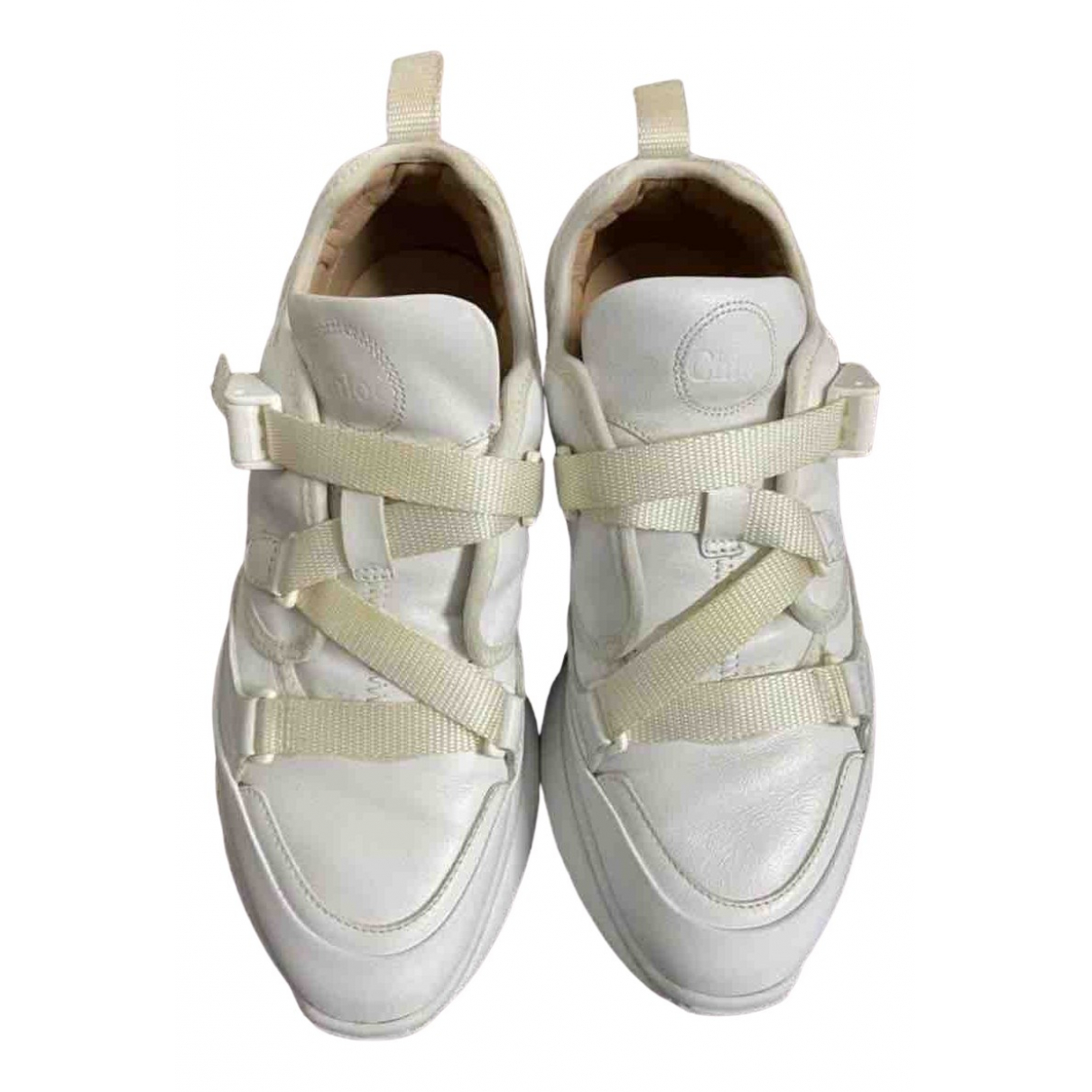Chloe Sonnie Sneakers in  Weiss Polyester