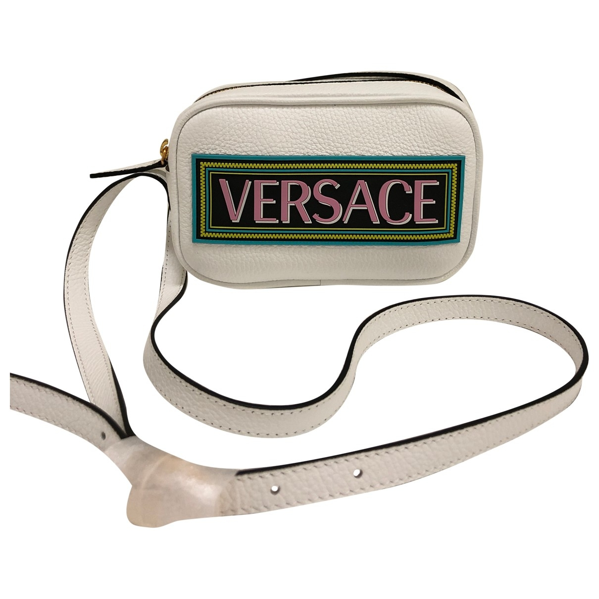 Versace \N White Leather handbag for Women \N