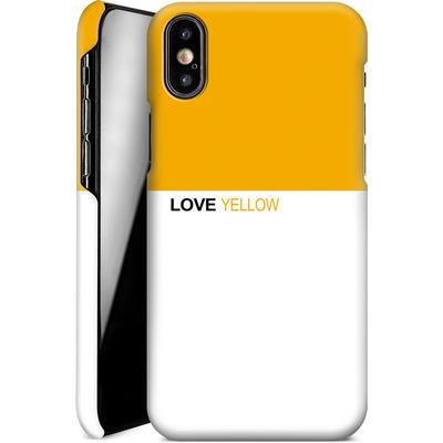 Apple iPhone X Smartphone Huelle - LoveYellow von caseable Designs