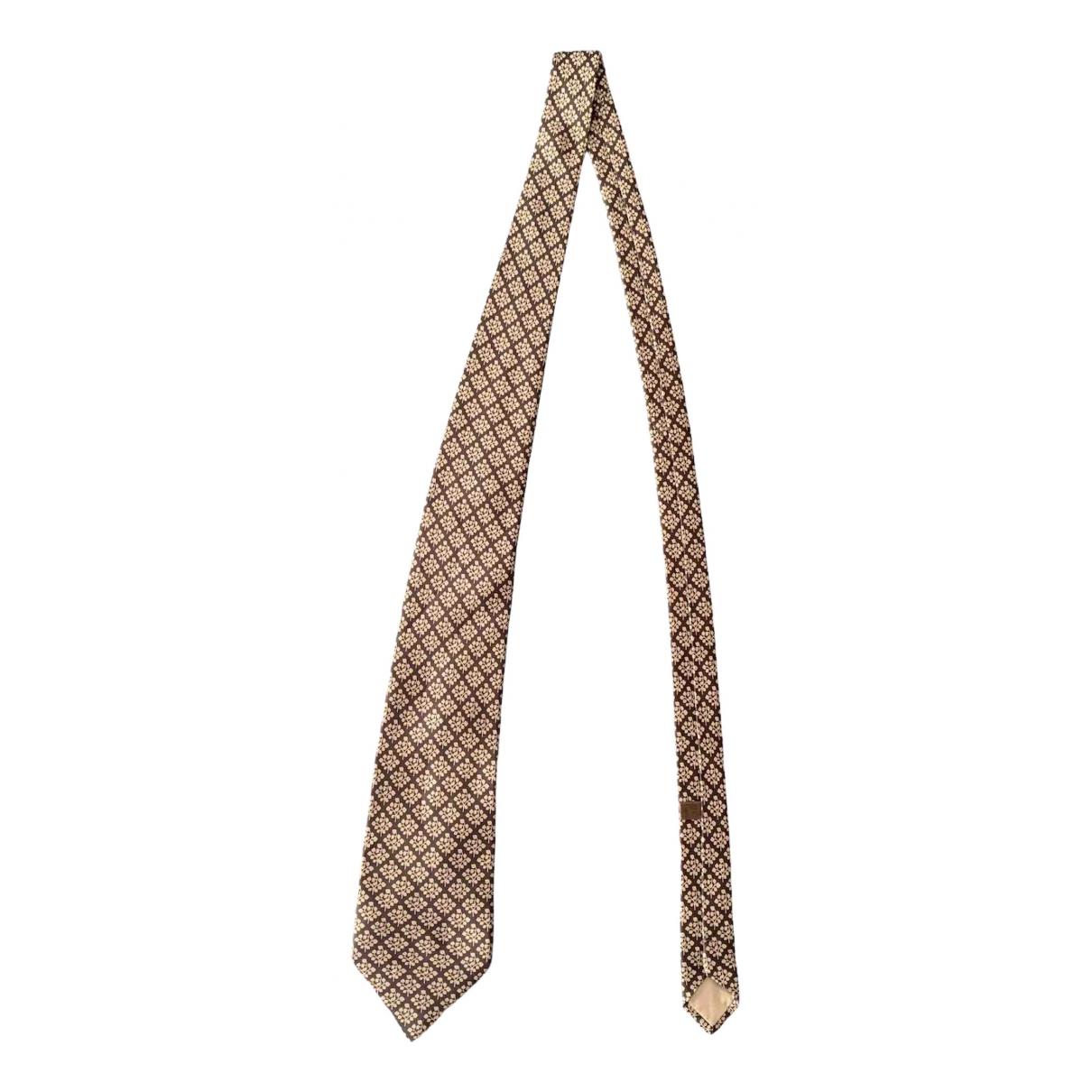 Loewe N Brown Silk Ties for Men N