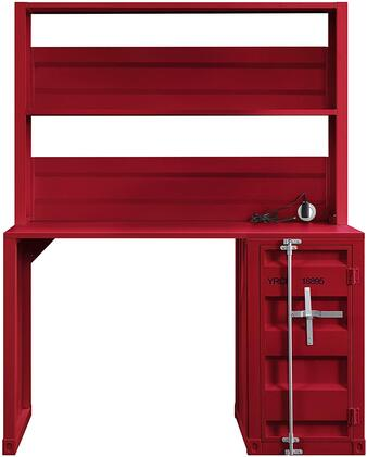 Cargo Collection 37917 Desk & Hutch  1 Open Compartment & Storage Base with 1 Door & Inside 2 compartments with 1 Metal Shelf  in Red