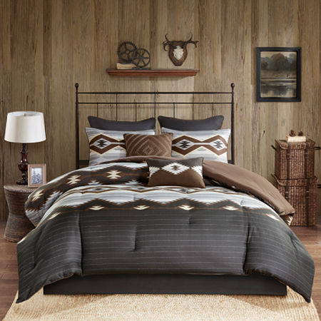 Woolrich Bitter Creek Oversized Comforter Set, One Size , Gray