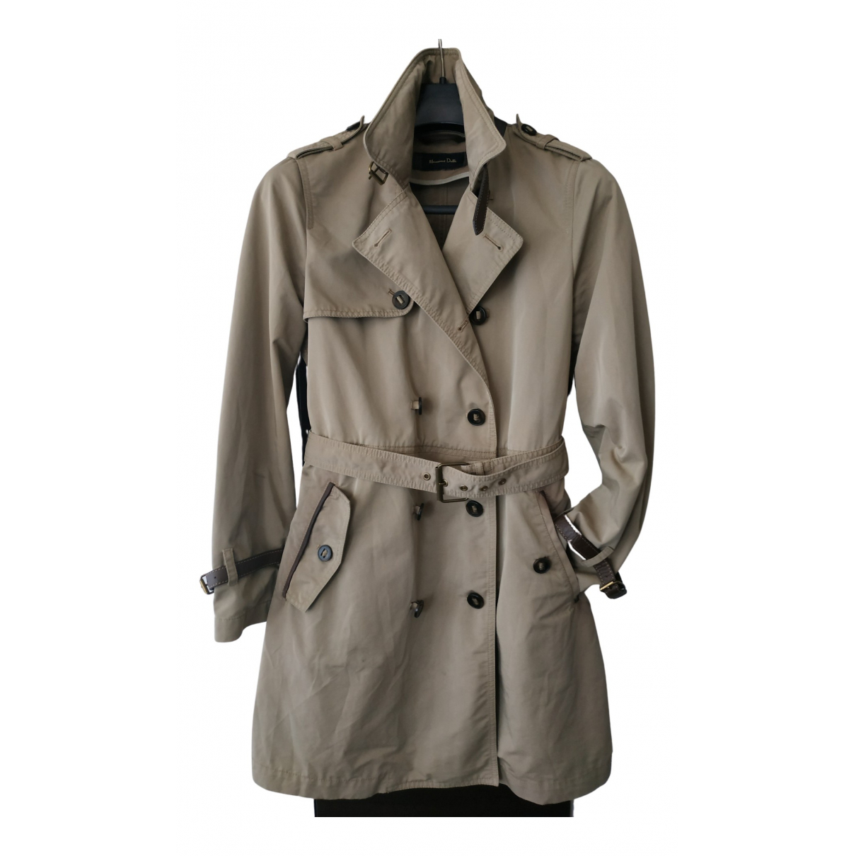 Massimo Dutti \N Trench in  Beige Baumwolle