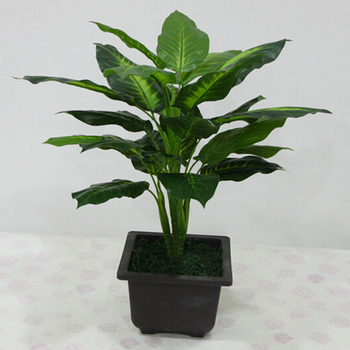 Evergreen Artificial Plant Bush Potted Tree Flower Simulation Home Office Desk Deco