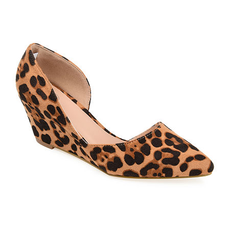 Journee Collection Womens Lenox Pumps Wedge Heel, 11 Medium, Multiple Colors