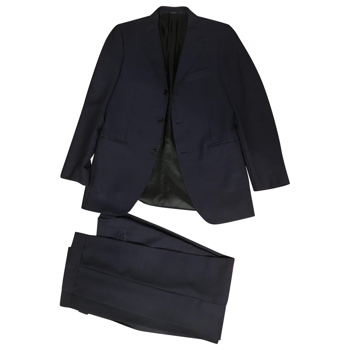 Non Signé / Unsigned \N Blue Wool Suits for Men 50 IT