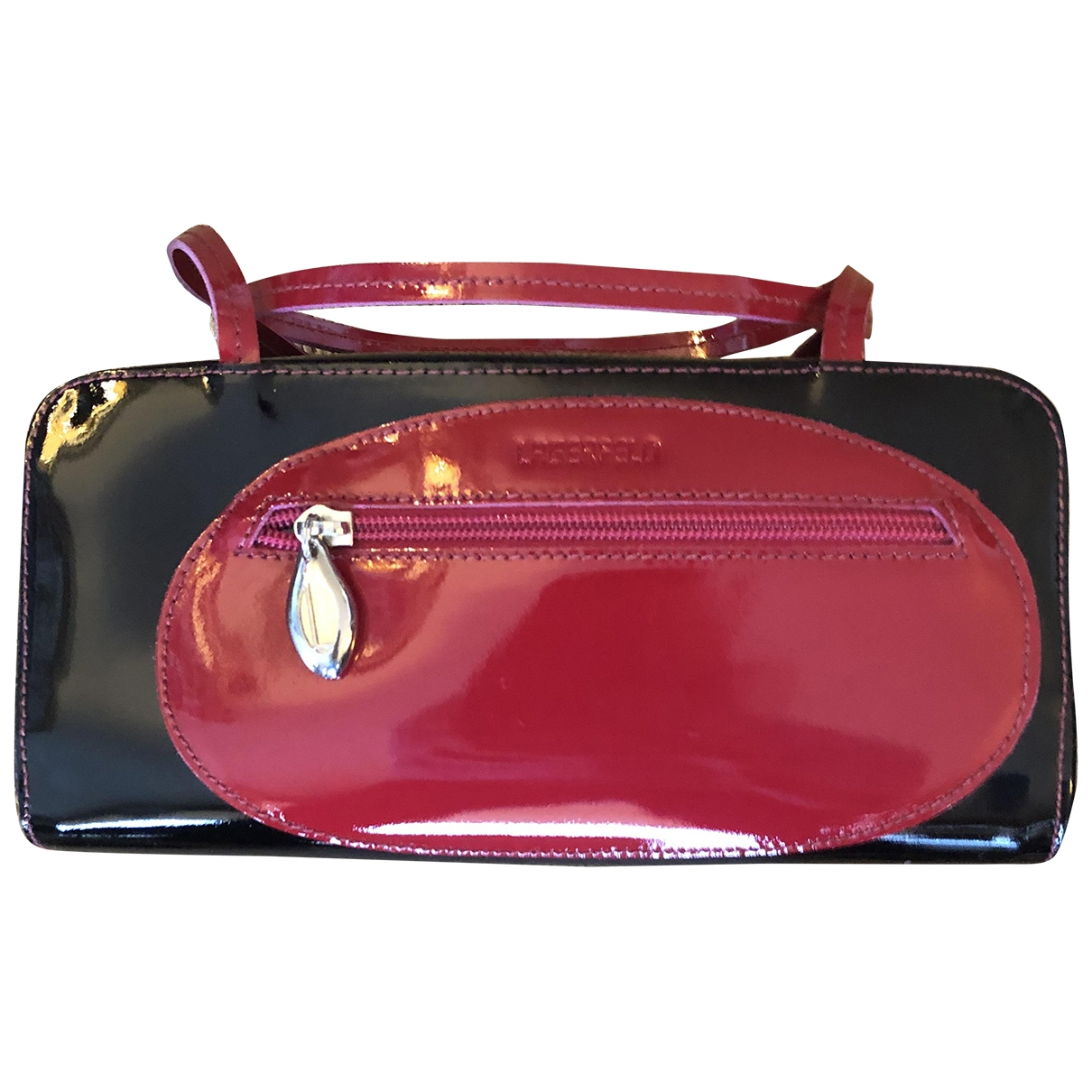 Karl Lagerfeld - Sac a main   pour femme en cuir verni - noir