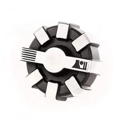 Rugged Ridge Elite Fuel Cap (Brushed Aluminum) - 11229.11