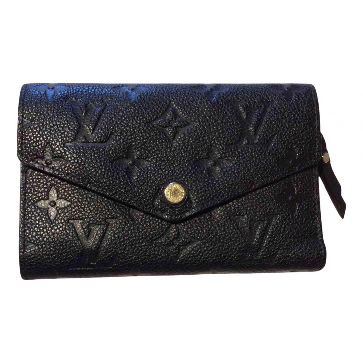 Louis Vuitton - Portefeuille Victorine pour femme en cuir - noir