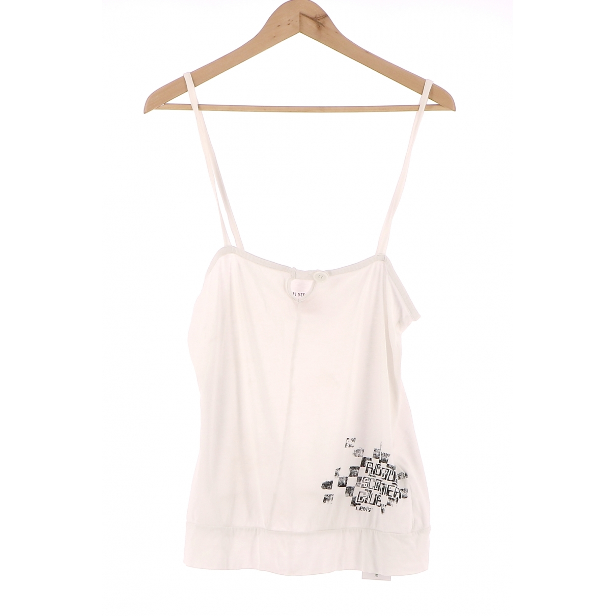 Levi's \N White Cotton  top for Women 38 FR