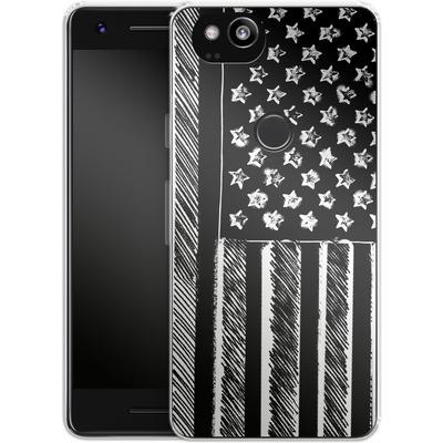 Google Pixel 2 Silikon Handyhuelle - Black and White von caseable Designs