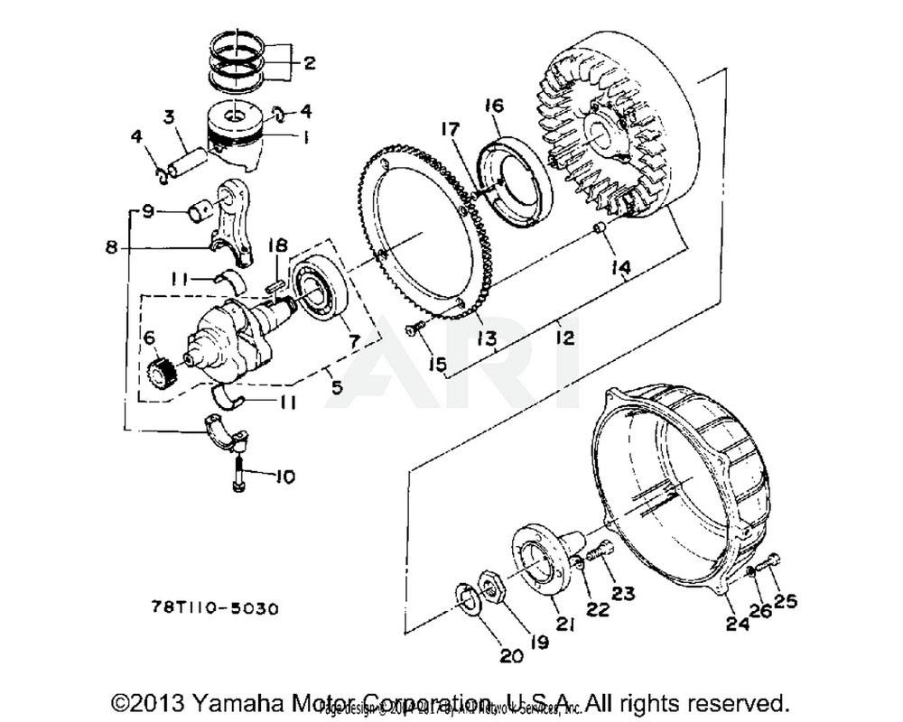 Yamaha OEM YA2-31224-02-11 FLYWHEEL ASSEMBLY.