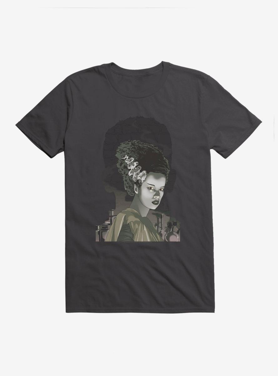 Universal Monsters Bride Of Frankenstein Shadows T-Shirt