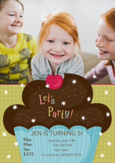 Kids Birthday Party Invites 5x7 Cards, Premium Cardstock 120lb, Card & Stationery -Let's Party!