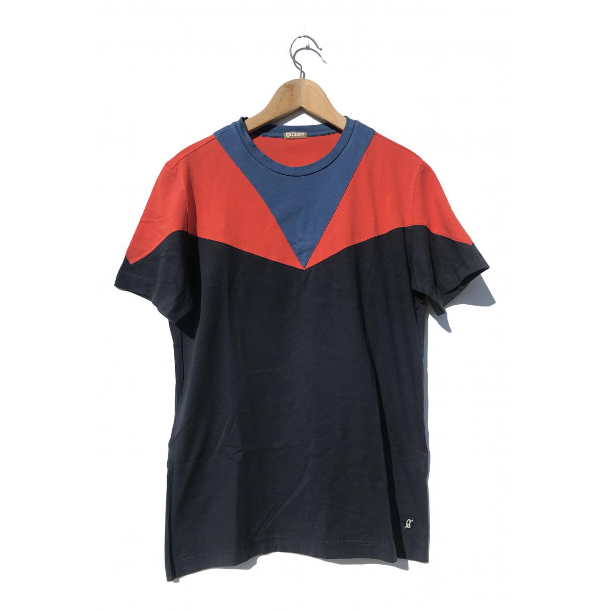Galliano - Tee shirts   pour homme en coton - bleu