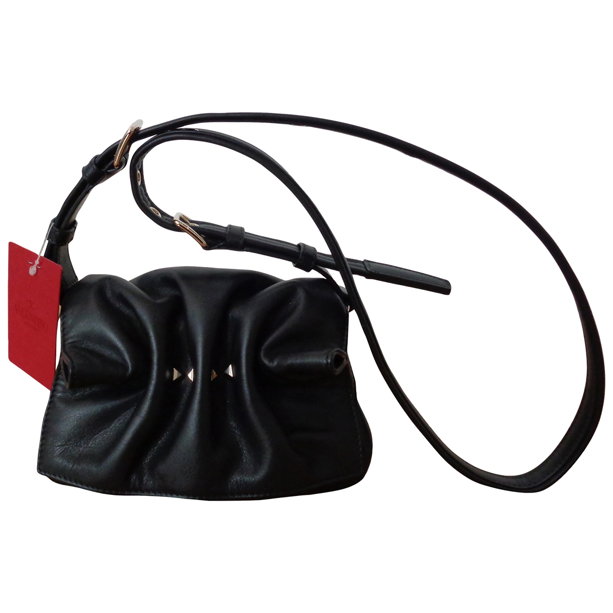 Valentino Garavani Bloomy Stud Black Leather handbag for Women \N