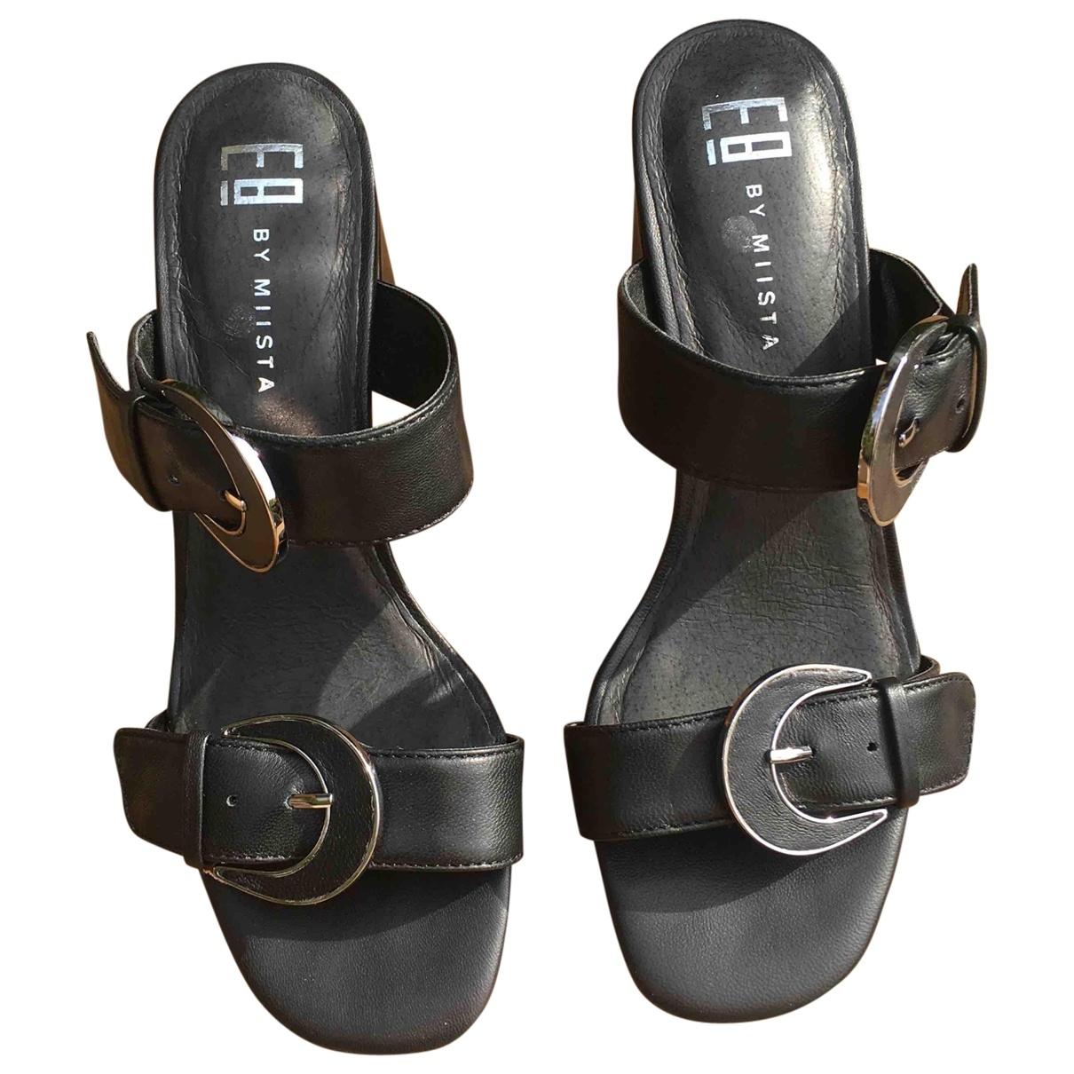 Miista - Sandales   pour femme en cuir - noir
