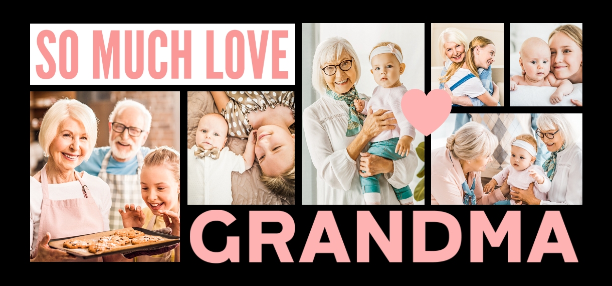 Family + Friends 11 oz. Light Blue Accent Mug, Gift -Grandma Heart