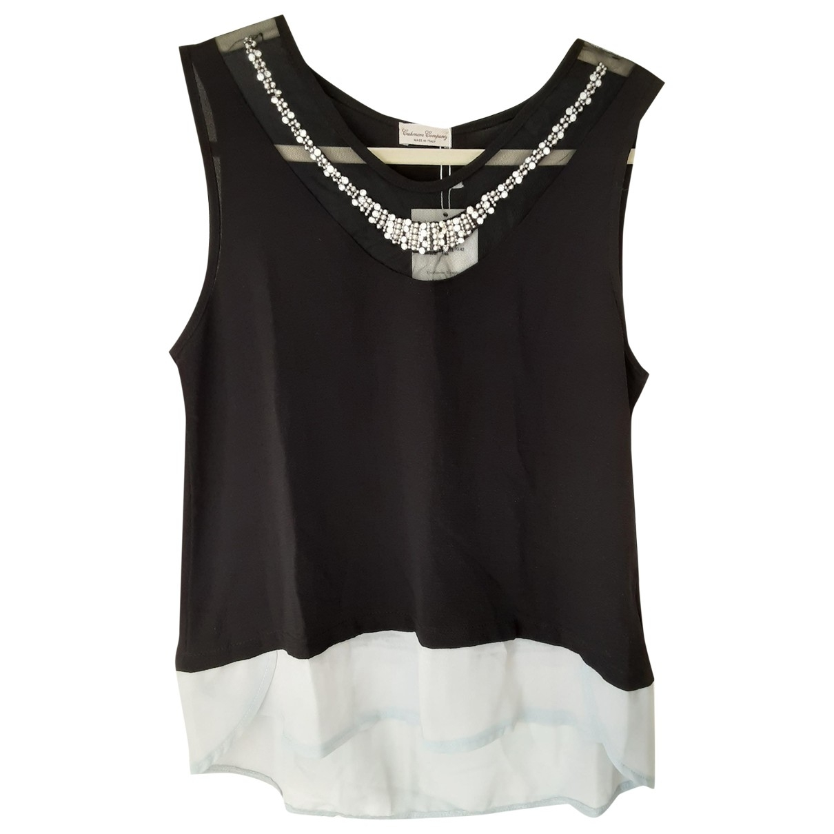 Non Signé / Unsigned \N Black Silk  top for Women 42 IT