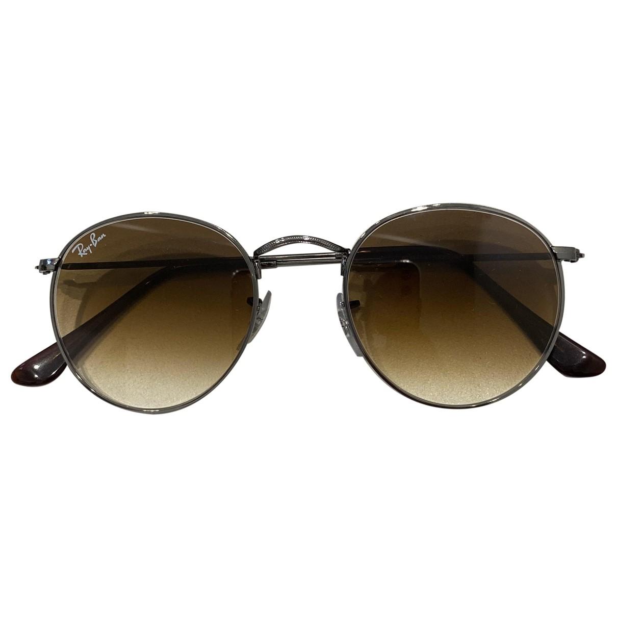 Ray-ban Round Sonnenbrillen in  Braun Metall