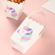 5 piezas caja con estampado de unicornio