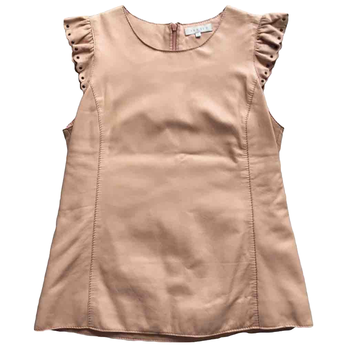 Sandro \N Beige Leather  top for Women 40 FR
