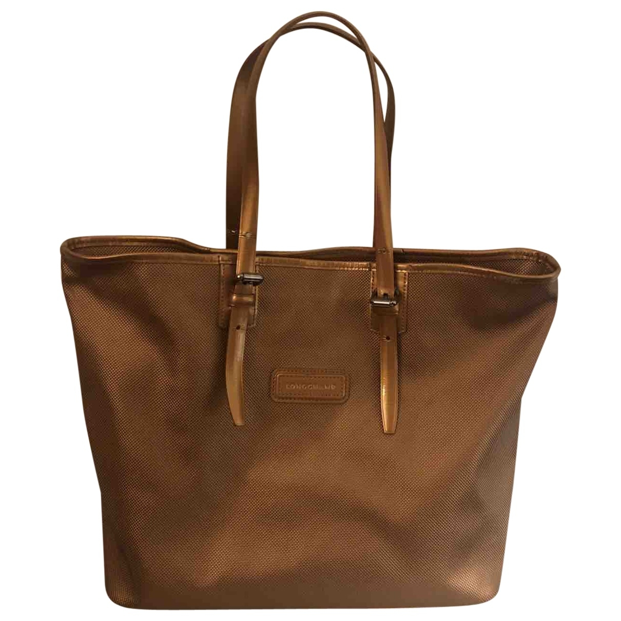 Longchamp \N Gold Cloth handbag for Women \N