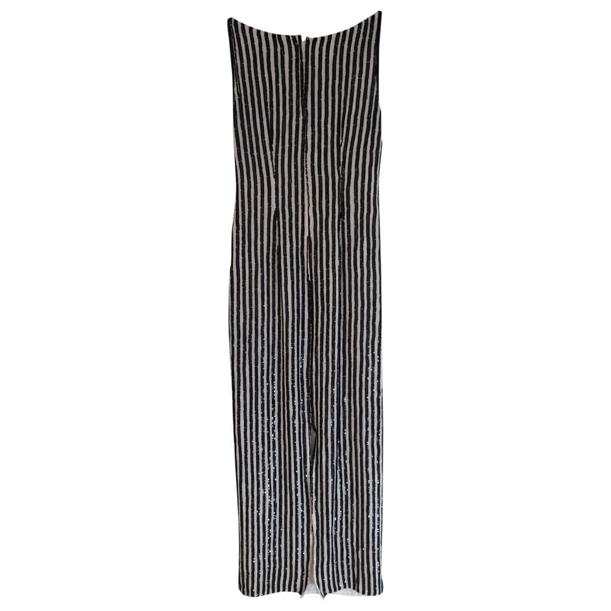 Maxi vestido Epaulettes de Seda Non Signe / Unsigned