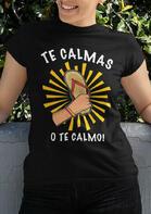 Presale - Mexican Letter Graphic Flip Flops T-Shirt Tee - Black