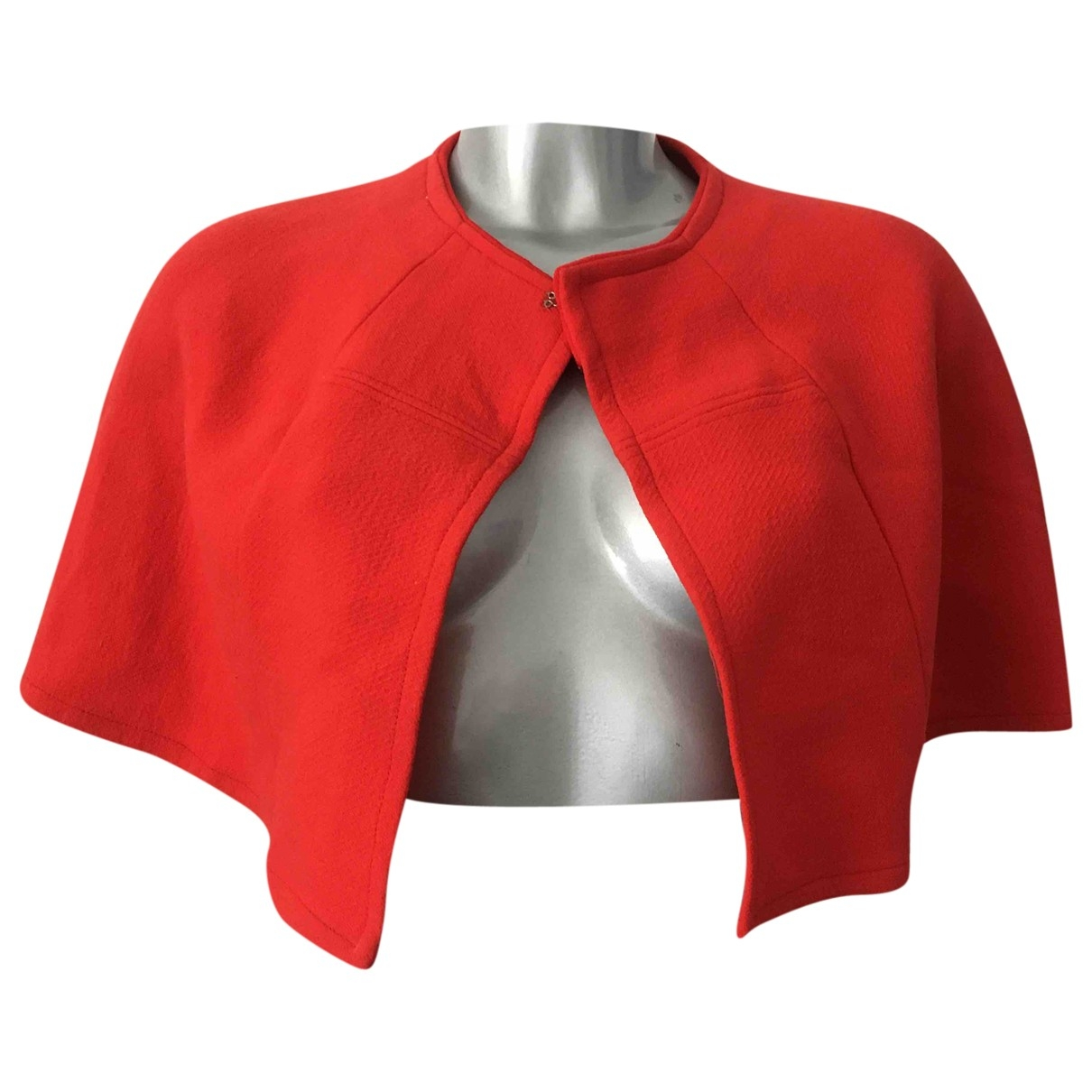 Non Signé / Unsigned \N Red Wool jacket for Women One Size International