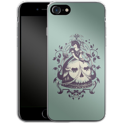 Apple iPhone 8 Silikon Handyhuelle - Mrs Death von Enkel Dika