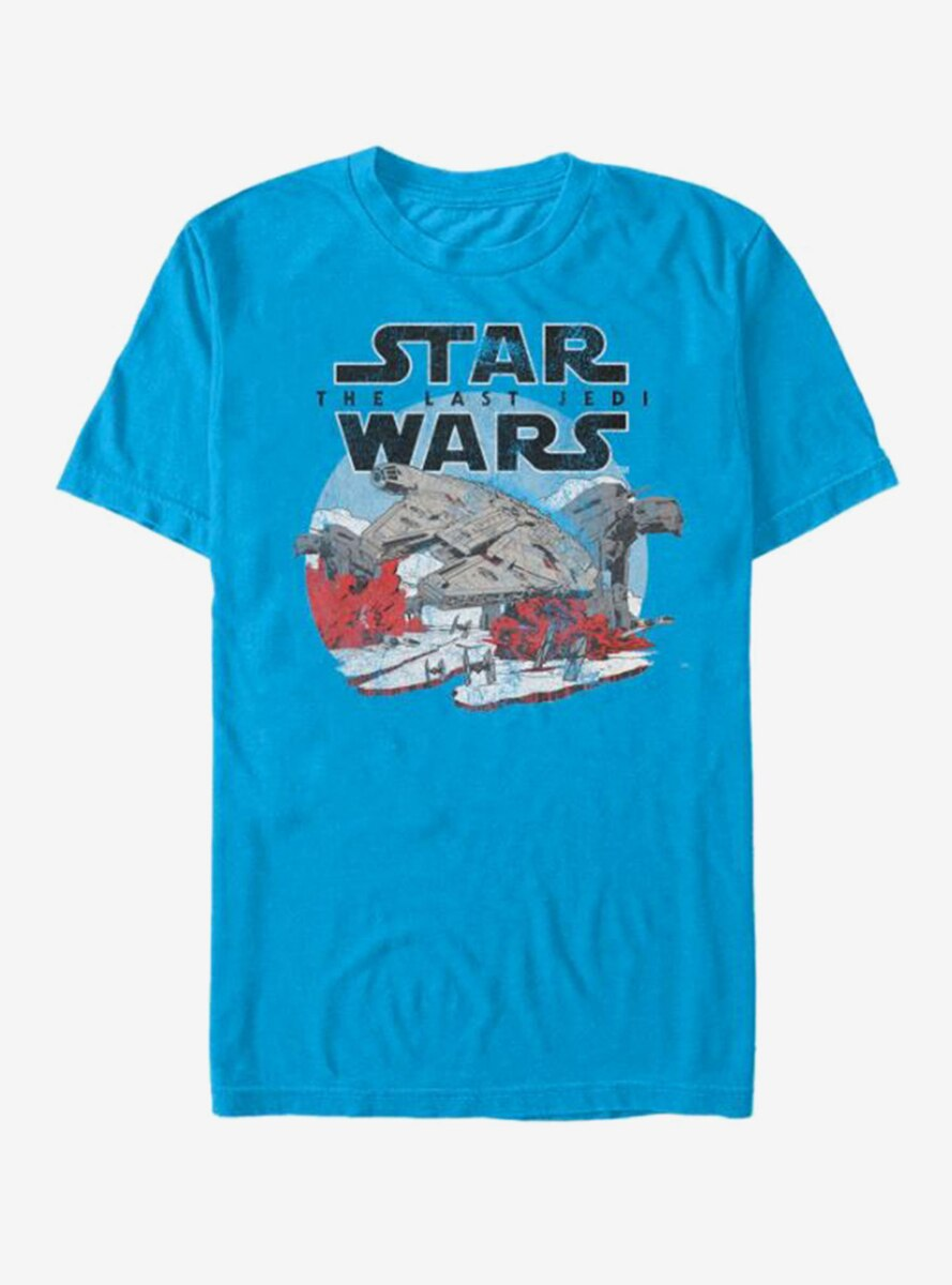 Star Wars Millennium Falcon Crait Battle T-Shirt