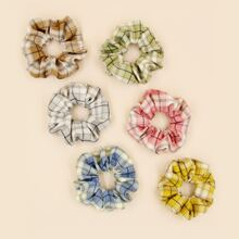 6 Stuecke Haarband mit Karo Muster