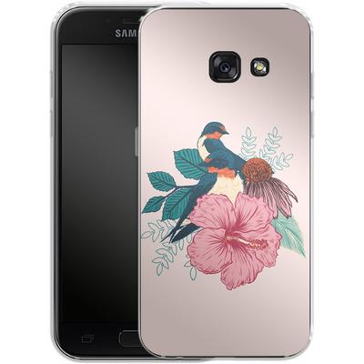 Samsung Galaxy A3 (2017) Silikon Handyhuelle - Barn Swallows von Mat Miller