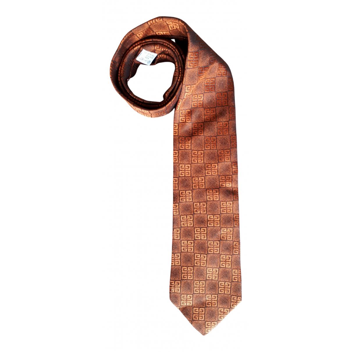 Givenchy \N Krawatten in  Orange Seide