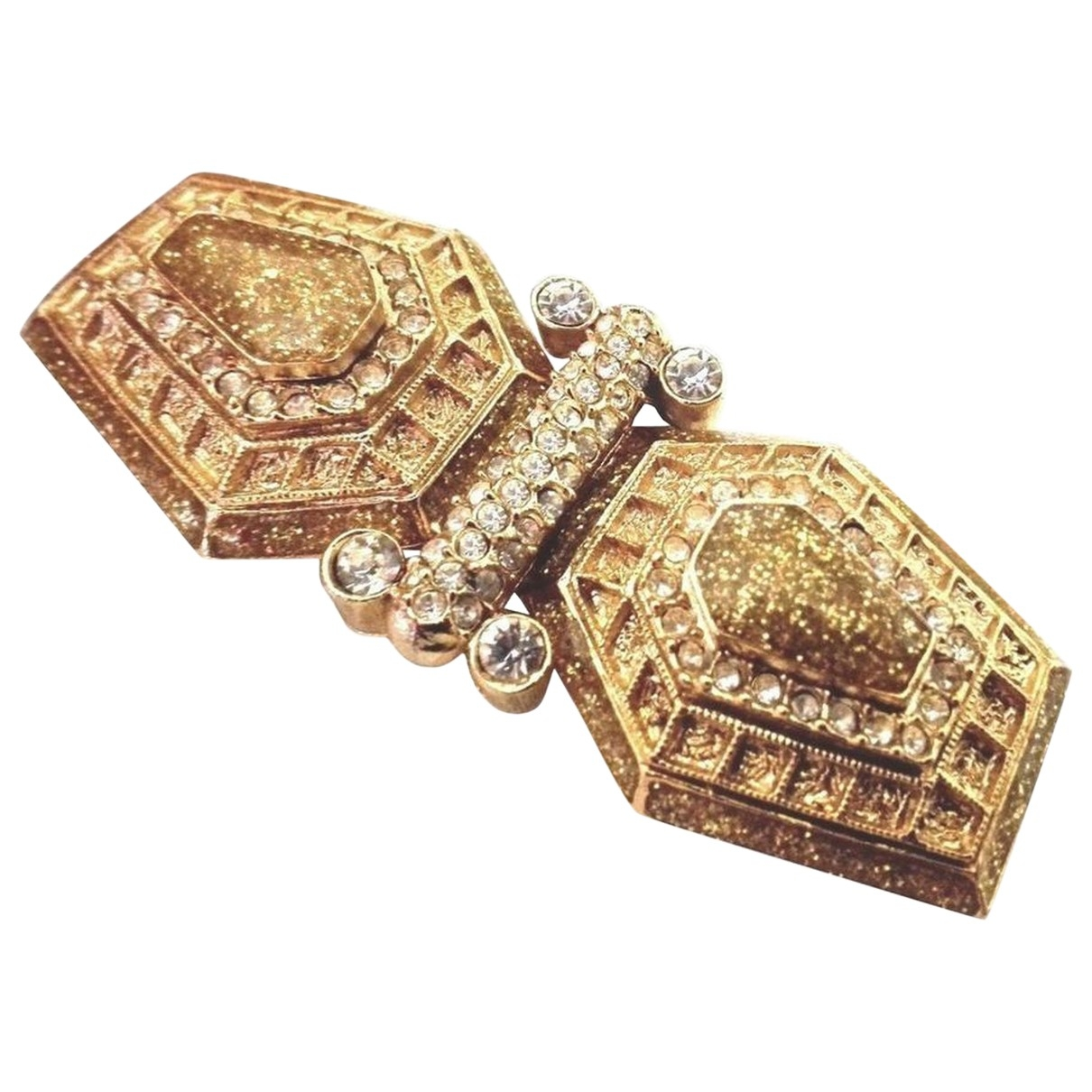 Balenciaga \N Gold Gold plated Pins & brooches for Women \N