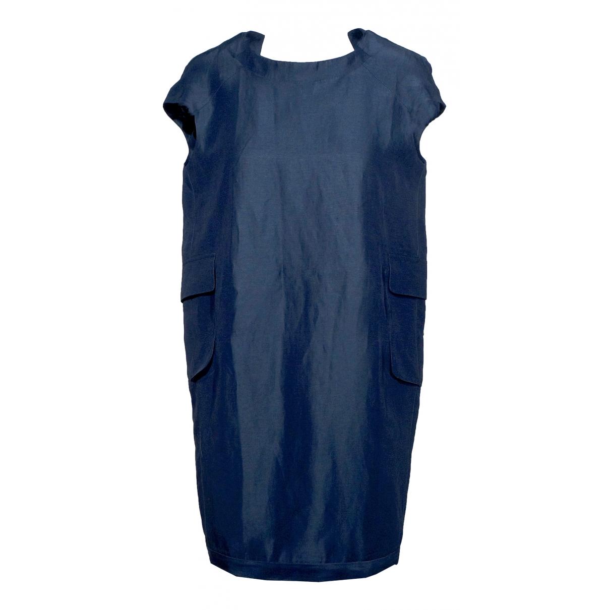 Marni \N Kleid in  Marine Leinen