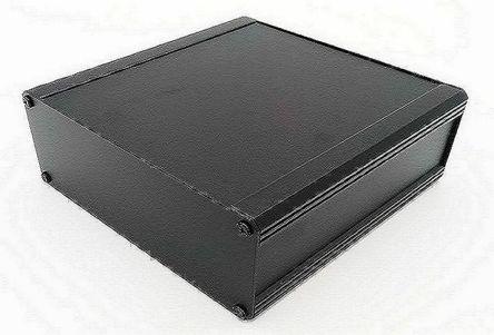 RS PRO Black Extruded Aluminium Heat Sink Case, IP40, 400 x 100 x 175mm