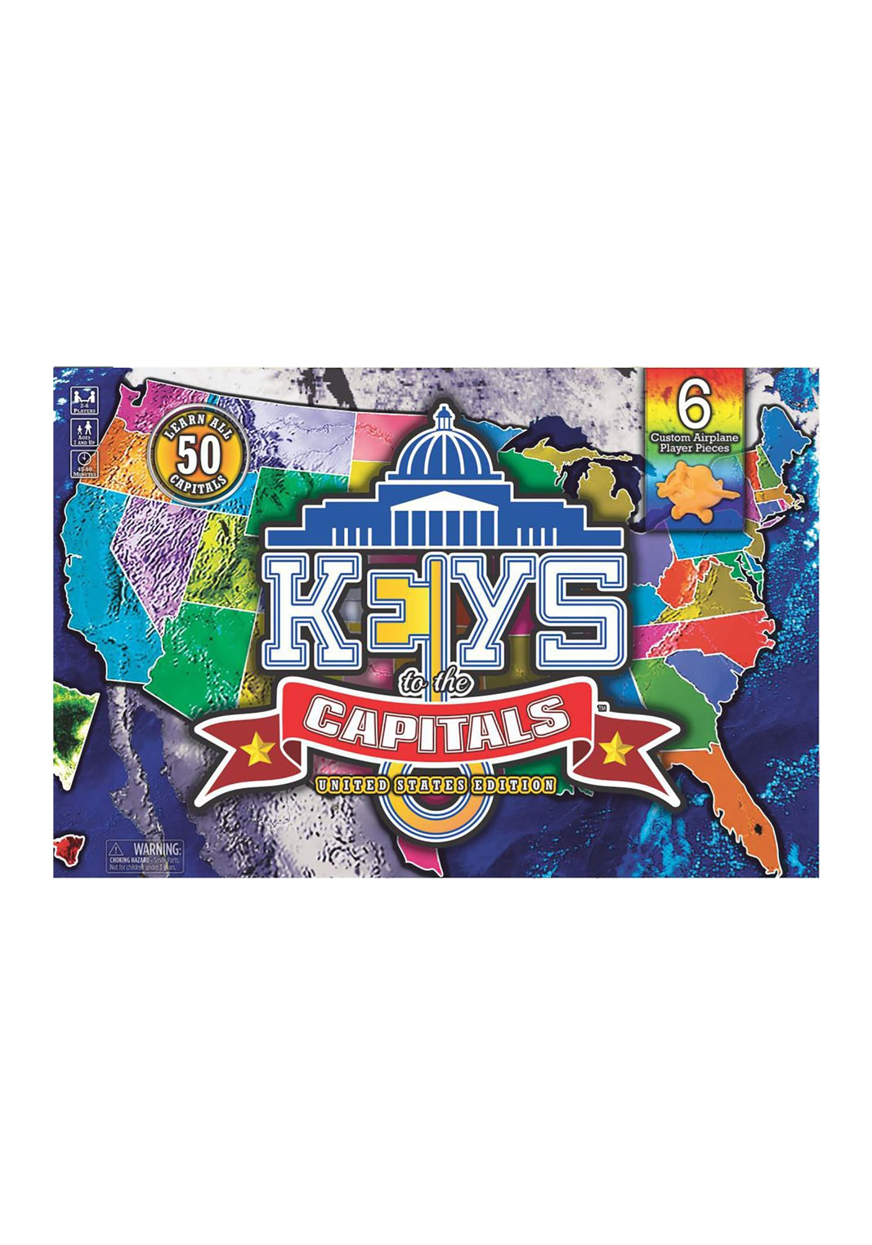 Keys to the Capitals Bell Studios Board Game