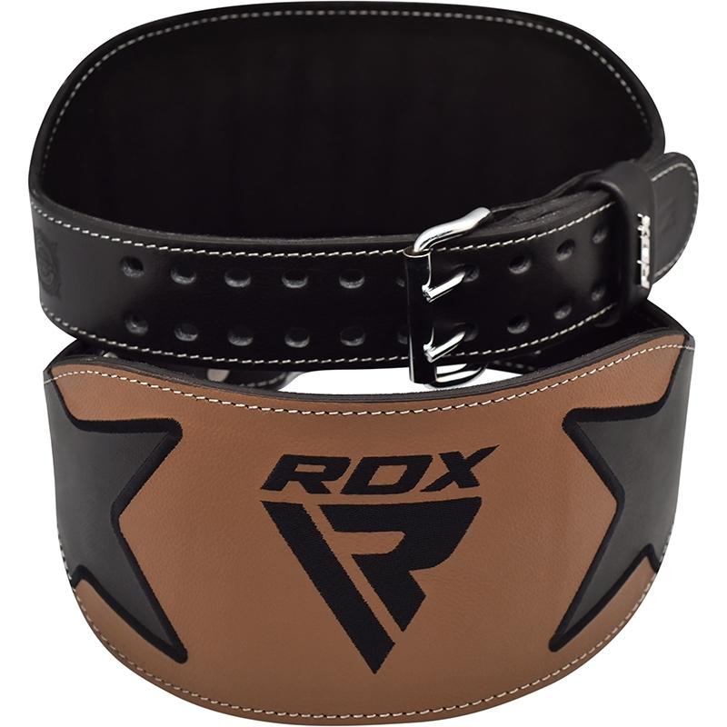 RDX 6 Pouces Marron Cuir Ceinture de Musculation X Grande marron