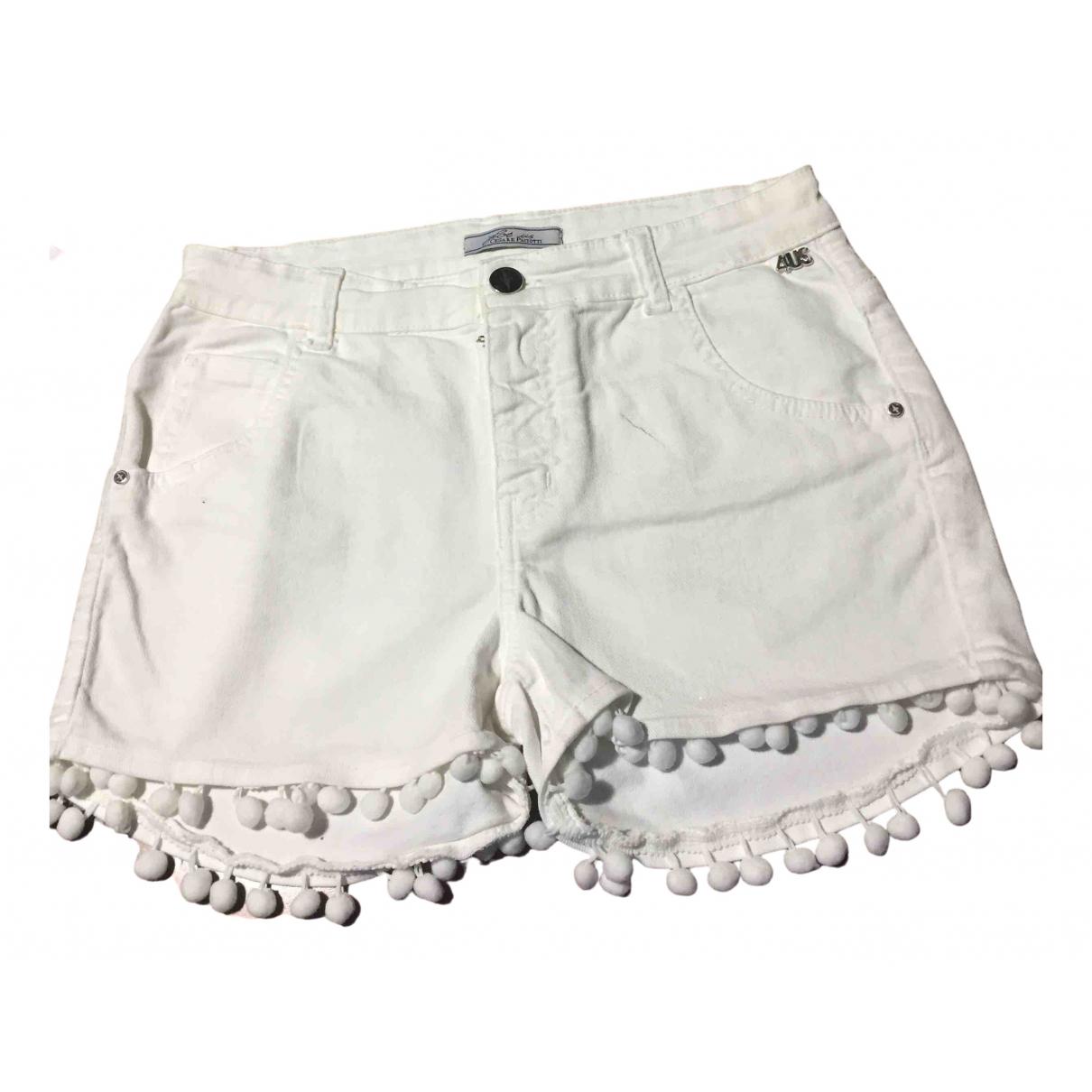 Cesare Paciotti - Pantalon   pour femme en coton - blanc