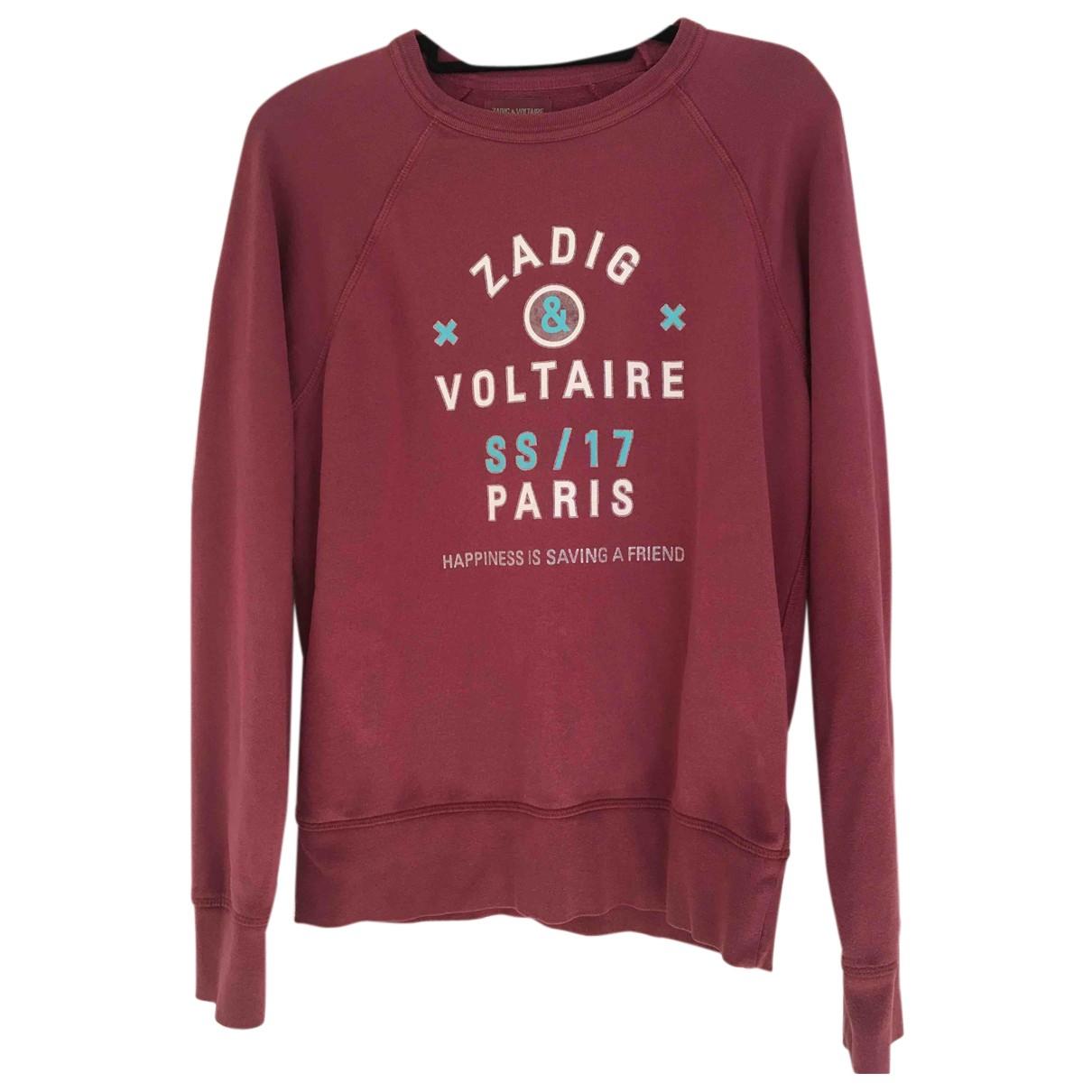 Zadig & Voltaire \N Pullover.Westen.Sweatshirts  in  Rosa Baumwolle