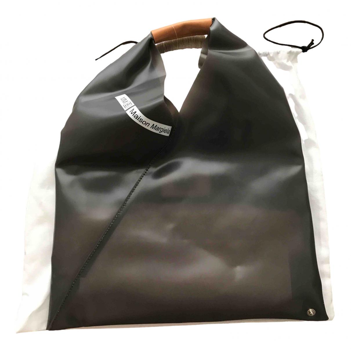 Mm6 \N Handtasche in  Anthrazit Kunststoff